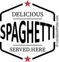 toile, fond, timbre, vendange, caoutchouc, délicieux, blanc, spaghetti, icône