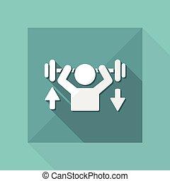 toile, formation, gymnase, -, vecteur, guide, icône