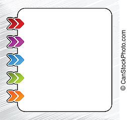 toile, gabarit, menu, -, flèche, navigation