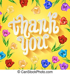toile, grand, ou, remercier, banner., salutation, média, thanksgiving, jaune, gabarit, social, vous, cartes, carte, white.