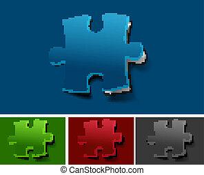 toile, icône, puzzle