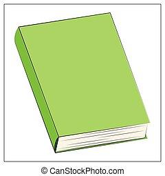 toile, icône, vert, illustration, vecteur, propre, ui, plat, icon., app, livre, conception, couverture, logo