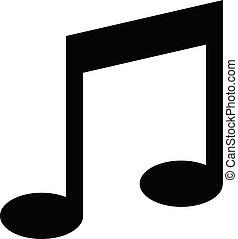 toile, illustration., site, conception, note, musical, vecteur, ui, mélodie, app, ton, logo, icône