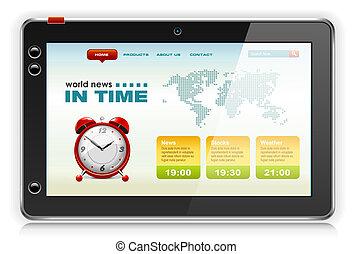 toile, informatique, site, pc tablette