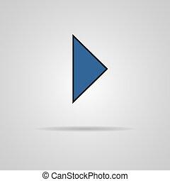 toile, jeu, bouton, vecteur, ombre, icône