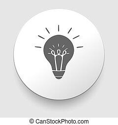 toile, -, lampe, fond, blanc, icône