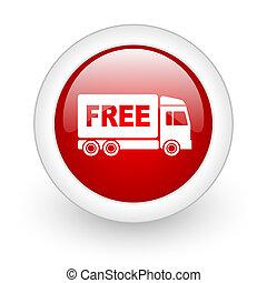 toile, lustré, gratuite, fond, icône, cercle, livraison, blanc rouge