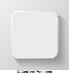 toile, mobile, bouton, vecteur, gabarit, vide, blanc, ombre,...