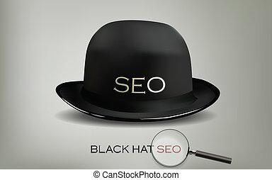 toile, moteur, noir, seo, chapeau, recherche, optimization