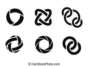 toile, orbite, technologie, rings.