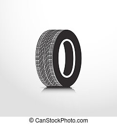toile, pneu plat, icône