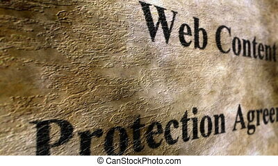 toile, protection, accord