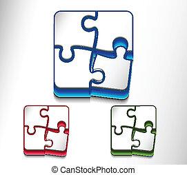 toile, puzzle, mettez stylique, icône