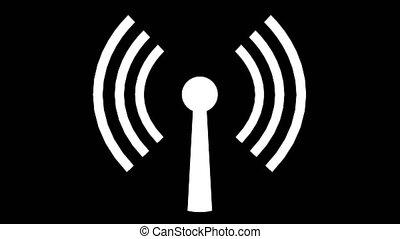 toile, réseau, logo, wifi, wi, connexion sans fil, 4k,...