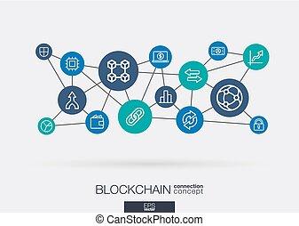 toile, réseau, neural, interagir, blockchain, crypto,...