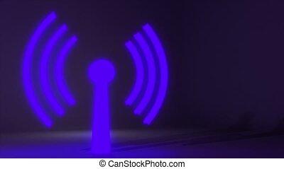toile, réseau, wifi, connexion sans fil, internet, logo,...