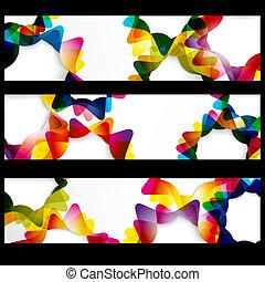 toile, résumé, formes, cadres, horizontal, bannière, ton, vide, design.