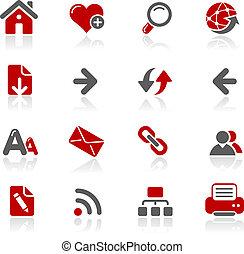 toile, redico, navigation, /, icônes