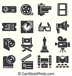 toile, silhouettes, collection, cinéma