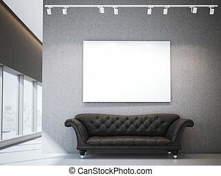 toile,  Sofa, moderne, rendre, luxe, intérieur, blanc,  3D
