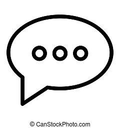 toile, style, 10., contour, message, ligne, isolé, illustration, eps, app., vecteur, parole, conçu, bavarder, icon., bulle, conception, white.