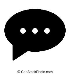 toile, style, 10., solide, message, isolé, illustration, eps, app., vecteur, parole, conçu, bavarder, icon., glyph, bulle, conception, white.