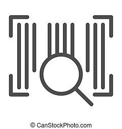 toile, style, code, 10., contour, barcode, isolé, illustration, eps, lentille, app., vecteur, white., icon., ligne, conception, conçu