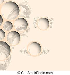 toile, style, conception, bulles, vendange