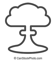 toile, style, explosion, contour, nucléaire, ligne, isolé, illustration, eps, app., vecteur, white., icon., 10., radioactif, apocalypse, conception, conçu