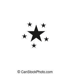 toile, style, gris, logo, classement, plat, icône, ui., symbole, arrière-plan., étoile, site, illustration, app, vecteur, conception, branché, ton, isolé