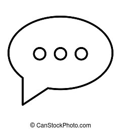toile, style, icon., 10., contour, ligne, isolé, illustration, eps, app., white., vecteur, parole, conçu, bavarder, message, bulle, conception, mince
