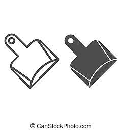 toile, style, pelle, 10., contour, exclusivité, ménage, isolé, illustration, eps, app., white., vecteur, conçu, icon., ligne, chat, conception, glyph