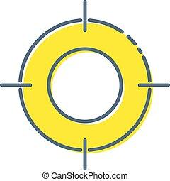 toile, style, vecteur, ton, illustration., plat, symbole, site, isolé, but, arrière-plan., app, cible, branché, blanc, ui., conception, logo, icône