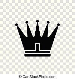 toile, style, vecteur, ton, plat, royal, symbole, couronne, site, illustration, isolé, arrière-plan., app, branché, blanc, ui., conception, logo, icône