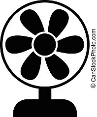 toile, symbole, ventilateur, icône
