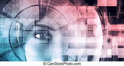 toile, technologie, information