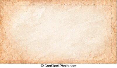 toile, texture, arrière-plan., vecteur, beige., horizontal