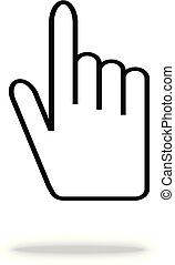 toile, ton, app, site, illustration, main, vecteur, icon., ui., conception, logo