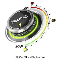 toile, trafic, engendrer, plus
