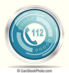 toile, urgence, webdesign, chrome, isolé, illustration, métallique, applications, vecteur, appeler, mobile, fond, icône, blanc, frontière, argent, rond