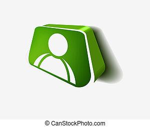 toile, utilisateur, icône