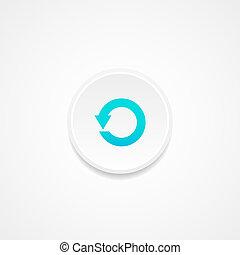 toile, vecteur, button., illustration.