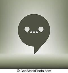 toile, vecteur, dialogue, icône