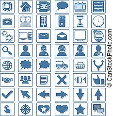 toile, vecteur, ensemble, icône
