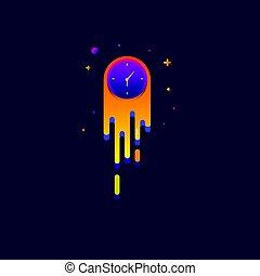toile, vecteur, icône, arc-en-ciel, beau, signe, logo., montre, lumière bleue, coloré, symbole, conception, moderne, illustration, arrière-plan.