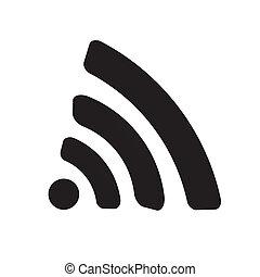 toile, wi-fi, icône