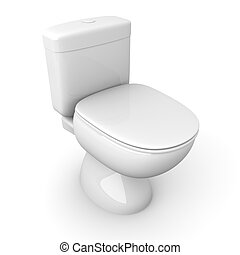Toilet - 3D rendered Illustration.