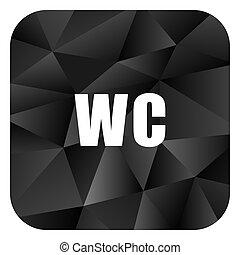 Toilet black color web modern brillant design square internet icon on white background.