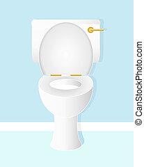 toilet bowl - an illustration of a white ceramic toilet bowl...