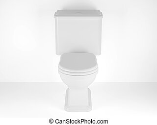 Toilet bowl - High resolution image. 3d rendered...